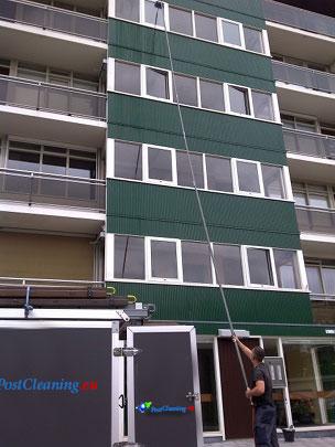 Raambewassing tot 18 meter hoogte - PostCleaning.eu